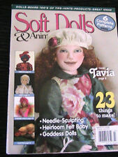 Soft Dolls & Animals~March 2006 Cloth Doll Patterns~Techniques~Tips Magazine