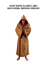 Star Wars Classic Jedi Bath Robe, Brown, Medium