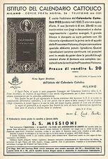 W9874 Istituto del Calendario Cattolico - Pubblicità del 1934 - Old advertising