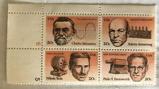 Scott #2055-2058 TECHNOLOGY block of 4 - 20 cent stamps TESLA  ARMSTRONG