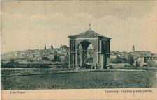 Año 1910. Tarjeta Postal. CALAHORRA. Logroño. Crucifijo y vista parcial.