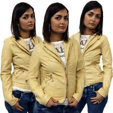 giacca giubbino GIUBBOTTO donna ZIP doppio collo giacca eco pelle XS,S,M,L,XL 00