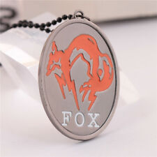 Game Fox Metal Gear Solid Metal Chain Necklace Pendant Xmas Gift Collection Gift