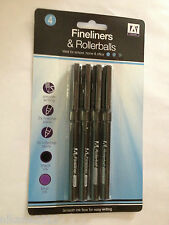 fineliners & rollerballs pens school home office stationary quality free post