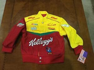 NASCAR Terry Labonte Kellogg'sRacing JACKET USA made NWT youth Small vintage