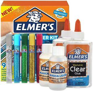 Slime Starter Kit Elmer S Glue Glitter Elmers Kid Pack Magical Liquid Activator