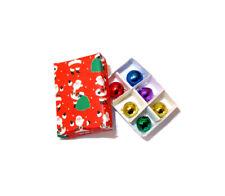 Dollhouse Christmas Ornaments in Santa Claus Box 1:12 Scale Miniatures
