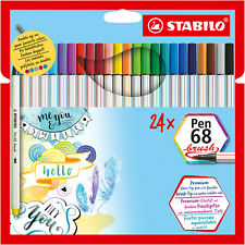 MALHEFT STABILO 368//14-01 Gefederter Deikant Filzstift Trio Scribbi 14 Farben