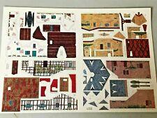 découpage limpidol - planche maisons - maquette papier carton TBE - jouet ancien