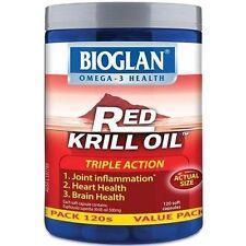 Bioglan Red Krill Oil Triple Action 500mg for Arthritis Relief 120 Soft Capsu 1