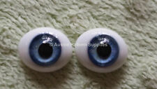 20mm Sky Blue Oval Glass Eyes Reborn Baby Doll Making Supplies