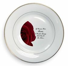 Rose-Wife, Girlfriend Love Sentiment Gold Rim Plate in Gift Box Chris, LOVE-R4PL