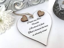 People say best friends Shabby Chic Heart Plaque Plaque Friendship 10cm S52