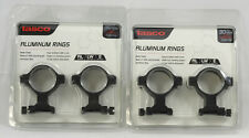 2 Sets Tasco 30mm High Alum Weaver Hunting Scope Mount Rings TS00706 +Hex Key