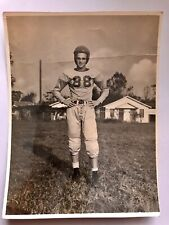 Young Teen Boy In Vintage Football Uniform Picture Photograph Vintage