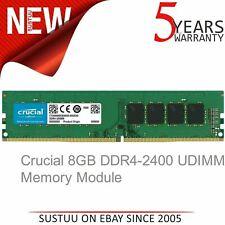 Crucial 8GB (1 x 8GB) 2400MHz DDR4-2400 UDIMM Memory|PC4-19200 CL17 288-Pin