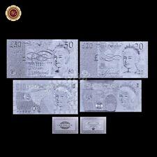 UK GBP British  £5 - £50 Silver Note Set 4pcs Pound Bill Note Collection /w COA