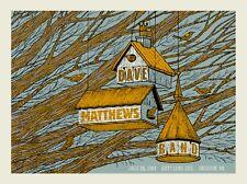 Dave Matthews Band Poster 2014 Bristow Va Signed & Numbered #/865