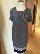 Olsen Dress Size 18 BNWT Navy Ivory Spotted RRP £139 Now £49