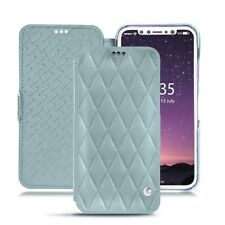 Case NOREVE Leather Wallet Nappa for Apple IPhone X - Blue PANTONE 277C