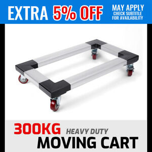4-Wheel Steel Frame Dolly Trolley Cart Furniture Piano Mover Handcart Moving New