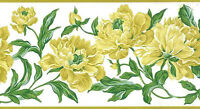Yellow Rose Wallpaper Border Cottage Style Green Leaves EN1484-B FREE Ship