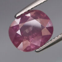 3.70Ct.RARE COLOR! Purple Pink Normal Heated Sapphire Madagascar Good Luster