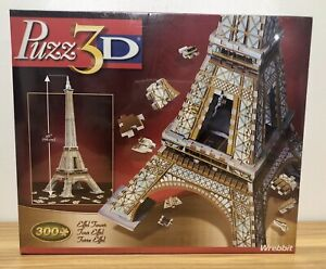 Wrebbit Puzz3D Eiffel Tower 300 pieces NEW sealed in box