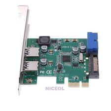 4 Port USB 3.0 PCI-Express X1 Expansion Card 2 External Ports + 2 Internal 19Pin