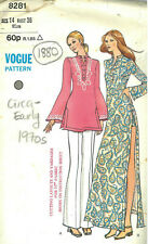 "1960s Vintage VOGUE Sewing Pattern B38"" Tunic Dress Pants Shorts (1880R)"