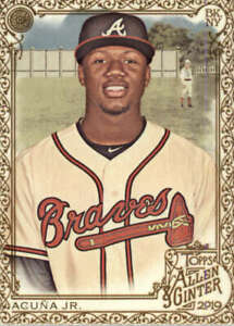 2019 Allen and Ginter Gold #25 Ronald Acuna Jr. Atlanta Braves  BX 50A