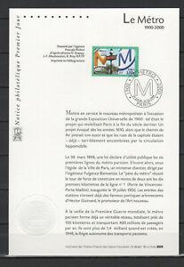 1900 - 1999 timbre Le Métro FDC 1er jour /B1TP330B