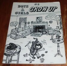 BOYS AND GIRLS GROWN UP # 1 VG (1981) UNDERGROUND COMIX.