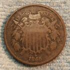 1865 Two Cent Civil War Nice for sale
