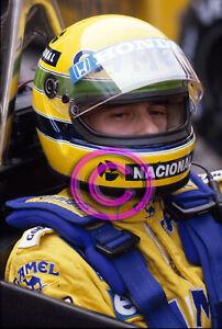 Racing Original 35mm Slide F1 Ayrton Senna - Lotus 1987 San Marino Formula 1