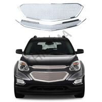 Front Grille Cover For 2016 2017 Chevy Equinox Grill Snap On Overlay Mesh Chrome
