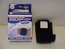 Champion Professional Neoprene Tennis Elbow Strap w/ Support Pad Large 0301BL-L