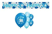30th BIRTHDAY PARTY PACK DECORATIONS BANNER BALLOONS (AP.B.1)