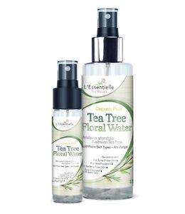Organic 100% Tea Tree Floral Water DUO 30ml &150ml Antifungal Acne antibacterial