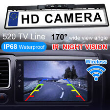 170° Wireless Car Rear View Reversing Camera License Number Plate Night Vision