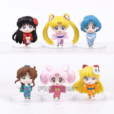 SAILOR MOON - SET 6 FIGURAS / KIMONO VERSION / 6 FIGURES SET 5cm