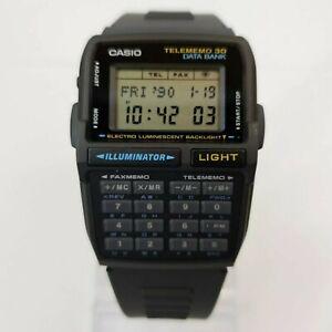 NOS CASIO DBC-30 BLACK DATA BANK 30 CALCULATOR WATCH MODULE 1253 VINTAGE