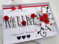 Luxury Personalised Handmade birthday Card 21,30,50,60,70,any age 3D Gift Box CC