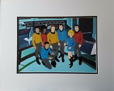 Star Trek Animation Cel with the Crew on the Enterprise Bridge