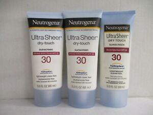 3 NEUTROGENA ULTRA SHEER DRY-TOUCH SUNSCREEN SPF 30 EXP: 7/21+ GW 2730