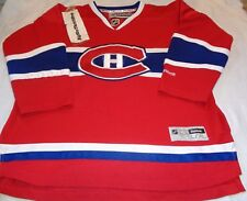 Montreal Canadians SEWN NHL HOCKEY REEBOK BLANK JERSEY CHILD YOUTH L/XL