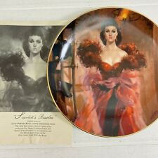Gone With The Wind Golden Anniversary Scarlet's Resolve Collector Plate 1989