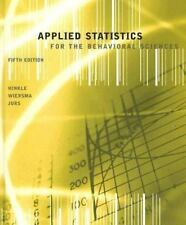Applied Statistics for the Behavioral Sciences by Dennis E. Hinkle, Stephen G. J
