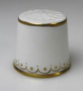 thimble porcelain Dresden white gold ornaments handpainted Germany new