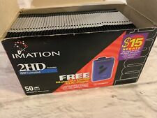 "LOT of 46 Imation 3.5"" Diskettes 2HD IBM Format Blank Unused Error Free 1.44MB"